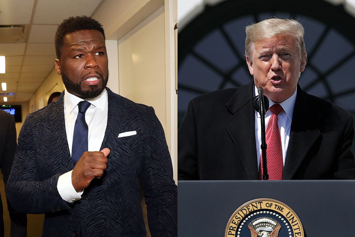 "50 Cent Reacts to Mural of Fif as President Trump: ""F**k Is Wrong With These People"""