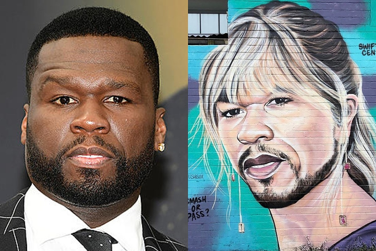 50 Cent Is Pissed at This Guy Who Keeps Painting Him as Taylor Swift, Donald Trump, Others