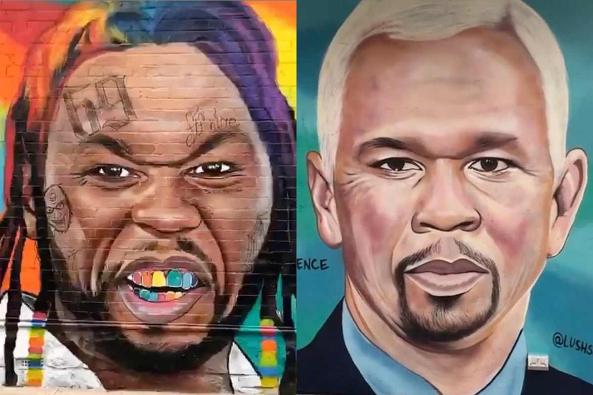 That Artist Keeps Painting 50 Cent as Other Celebrities and Fif is Still Pissed