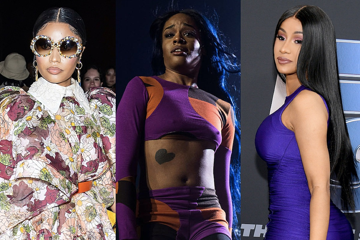 "Azealia Banks Calls Nicki Minaj a ""P@!sy Ass Bitch,"" Says She's Jealous of Cardi B"
