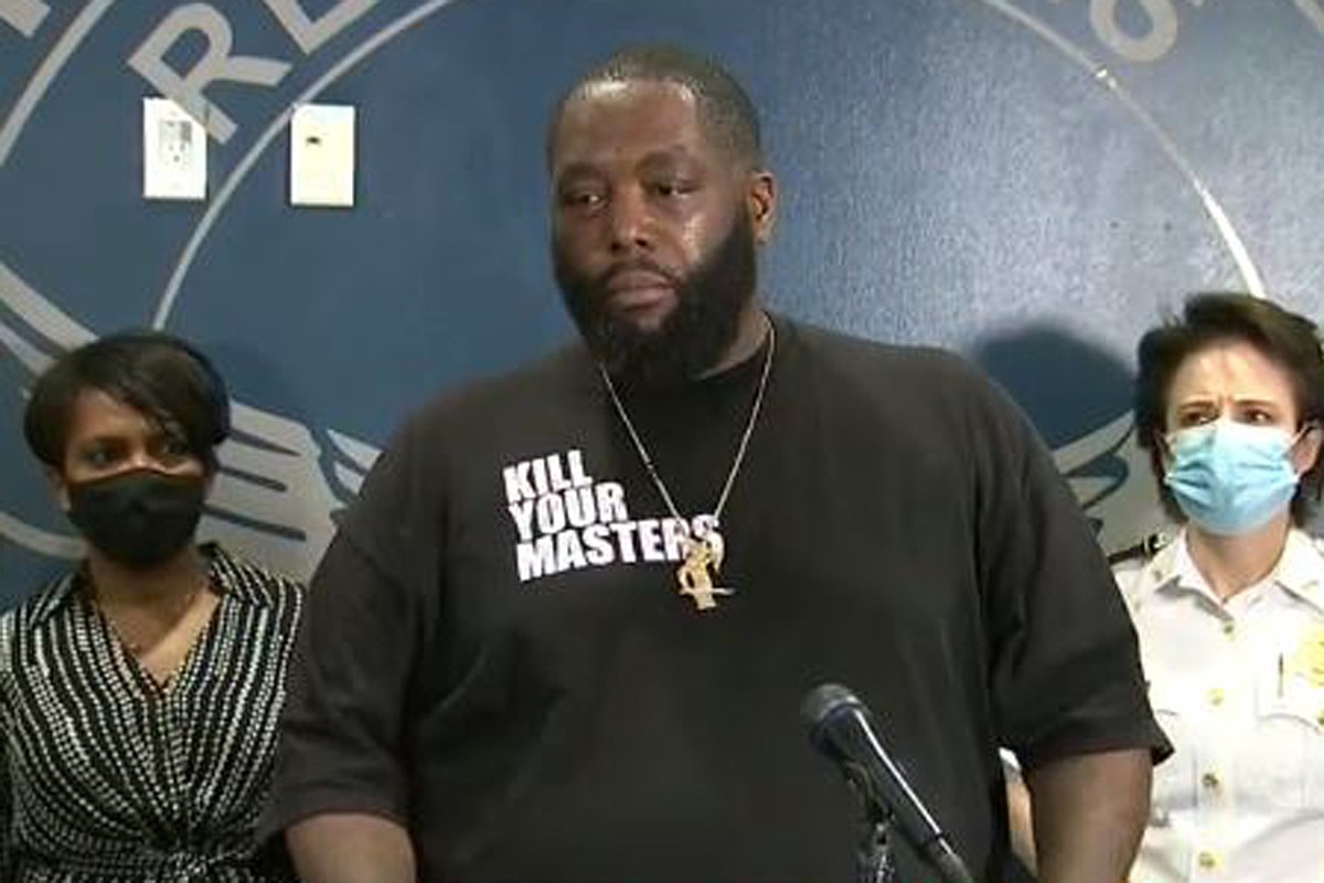 Killer Mike Gives Tearful Speech to Atlanta Protesters, Urges People to Not Burn Their Home Down: Watch