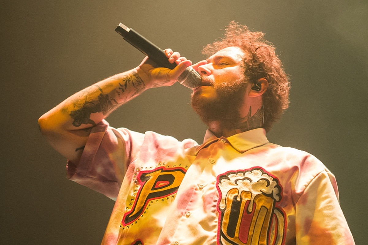 Post Malone Goes Bald, Gets Massive Head Tattoos: Photos