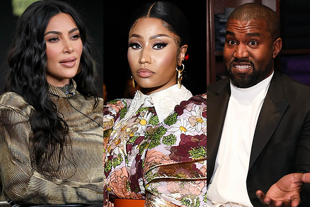 "Nicki Tells Fans to Spam Kim Kardashian With Comments Asking Kanye West to Drop ""New Body"""