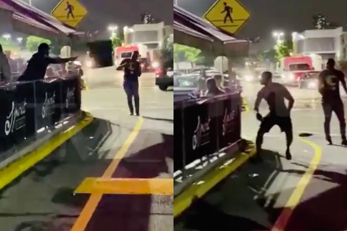 50 Cent Throws Table, Chair at Man in Restaurant