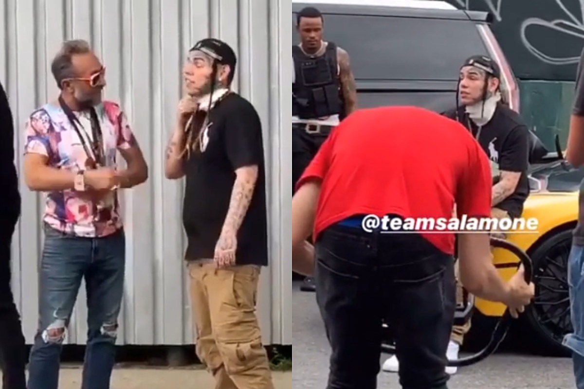 Photos of 6ix9ine in Public Surface During First Day Off House Arrest