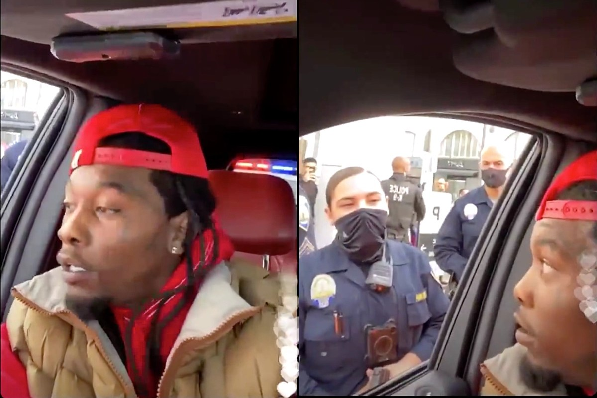 Offset Handcuffed on Livestream After Allegedly Waving Gun at Trump Supporters