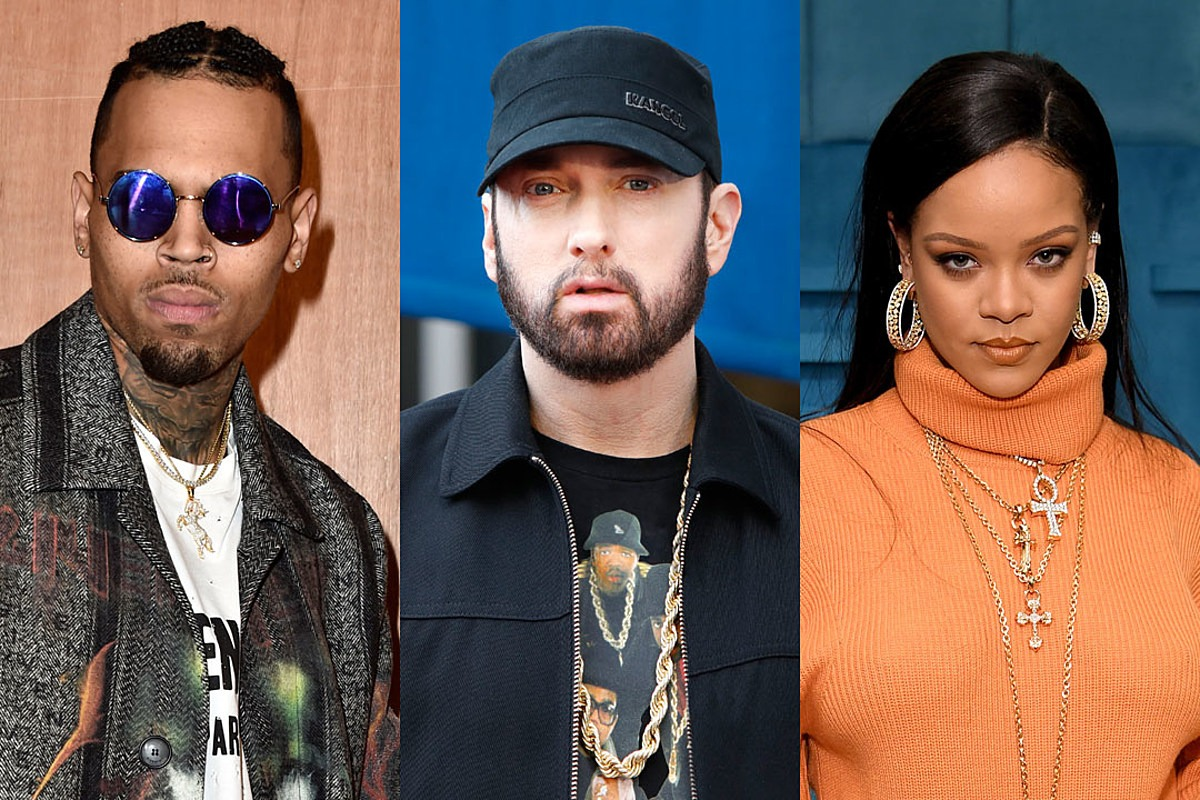 Eminem Claims He Doesn't Remember Rapping Controversial Chris Brown, Rihanna Lyric