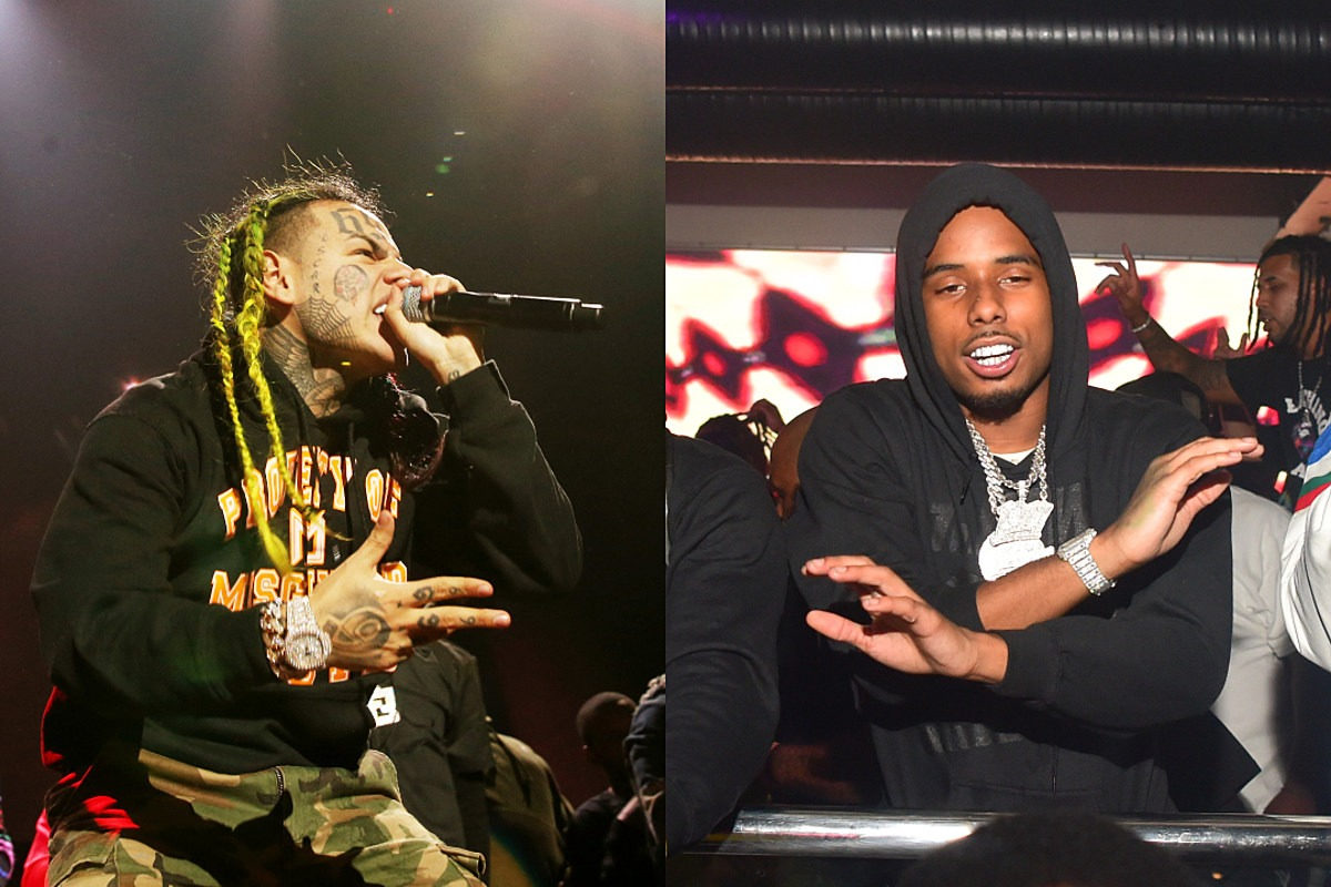 6ix9ine Clowned for Yelling Pooh Shiesty Lyrics at Meek Mill During Confrontation