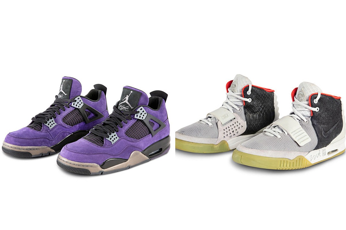 Eminem, Travis Scott and Kanye West Nike Air Jordan and Yeezy Sneakers Selling for Over $20,000 at Auction