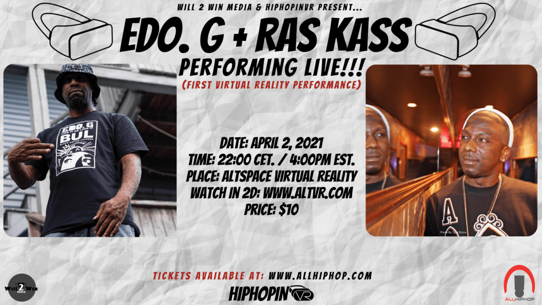 Ras Kass, Edo. G Giving First-Ever Performance In Virtual Reality – Here's How You Can Attend