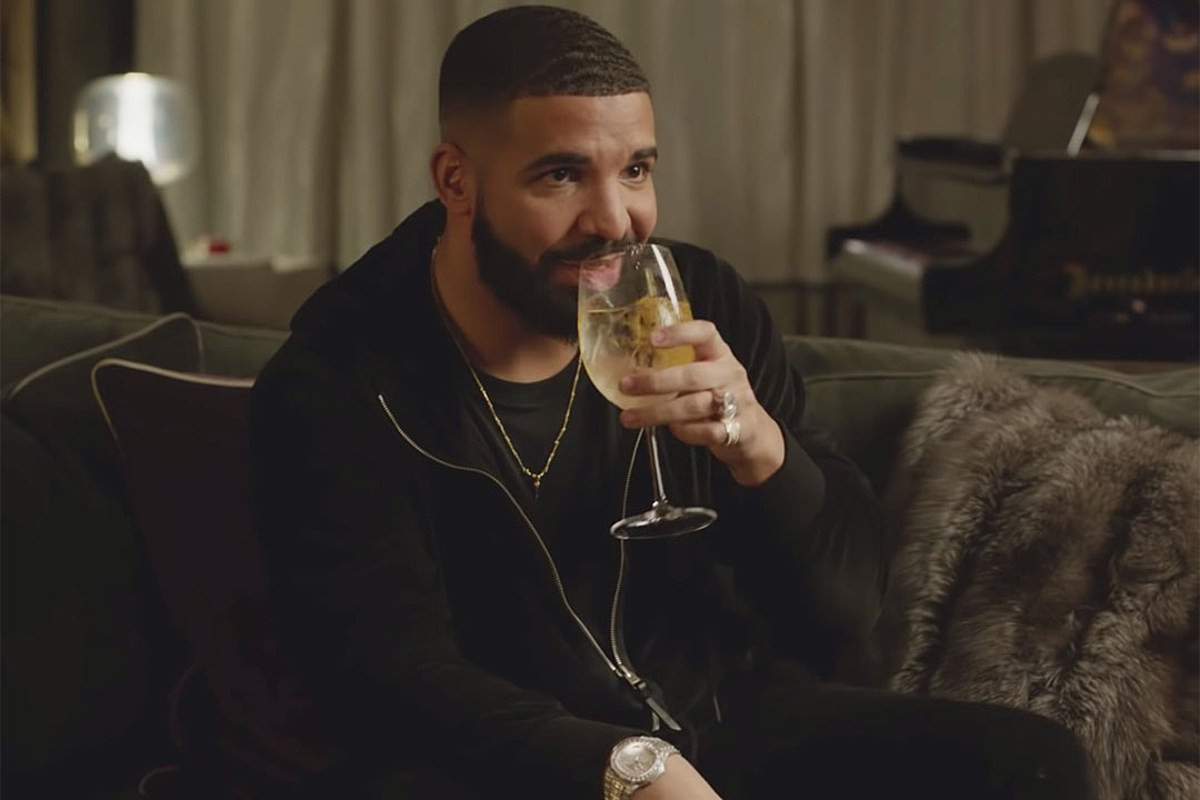 Drake's Best Part of His 'Fit Isn't a Diamond Chain, It's a Wine Glass
