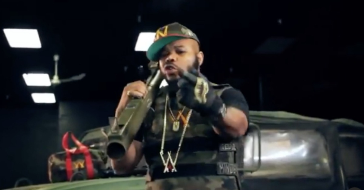 Rapper Warchyld Busted Over War-Like Truck With Air Gun Attached To Roof