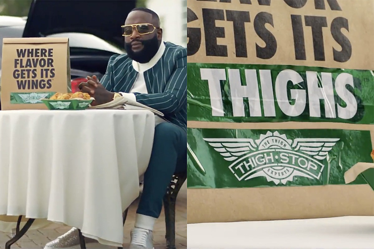 Rick Ross Helps Launch Thighstop With Wingstop Amidst Chicken Wing Shortage