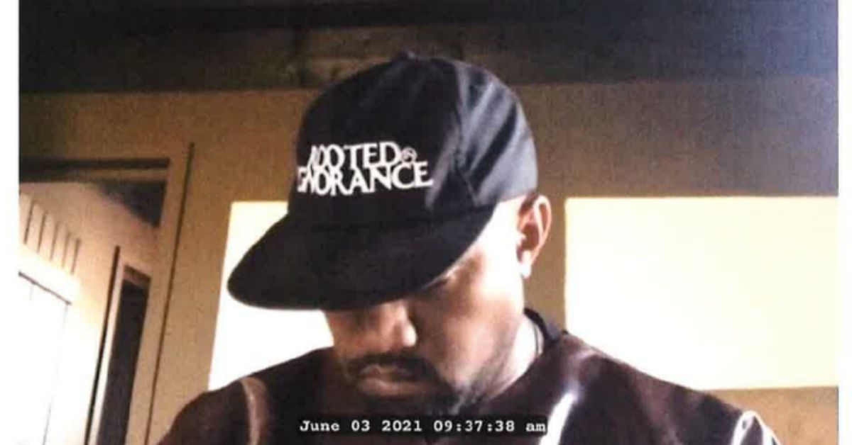 EXCLUSIVE: Check Out Pictures Of Kanye West's Wild Deposition In A Jesus Mask