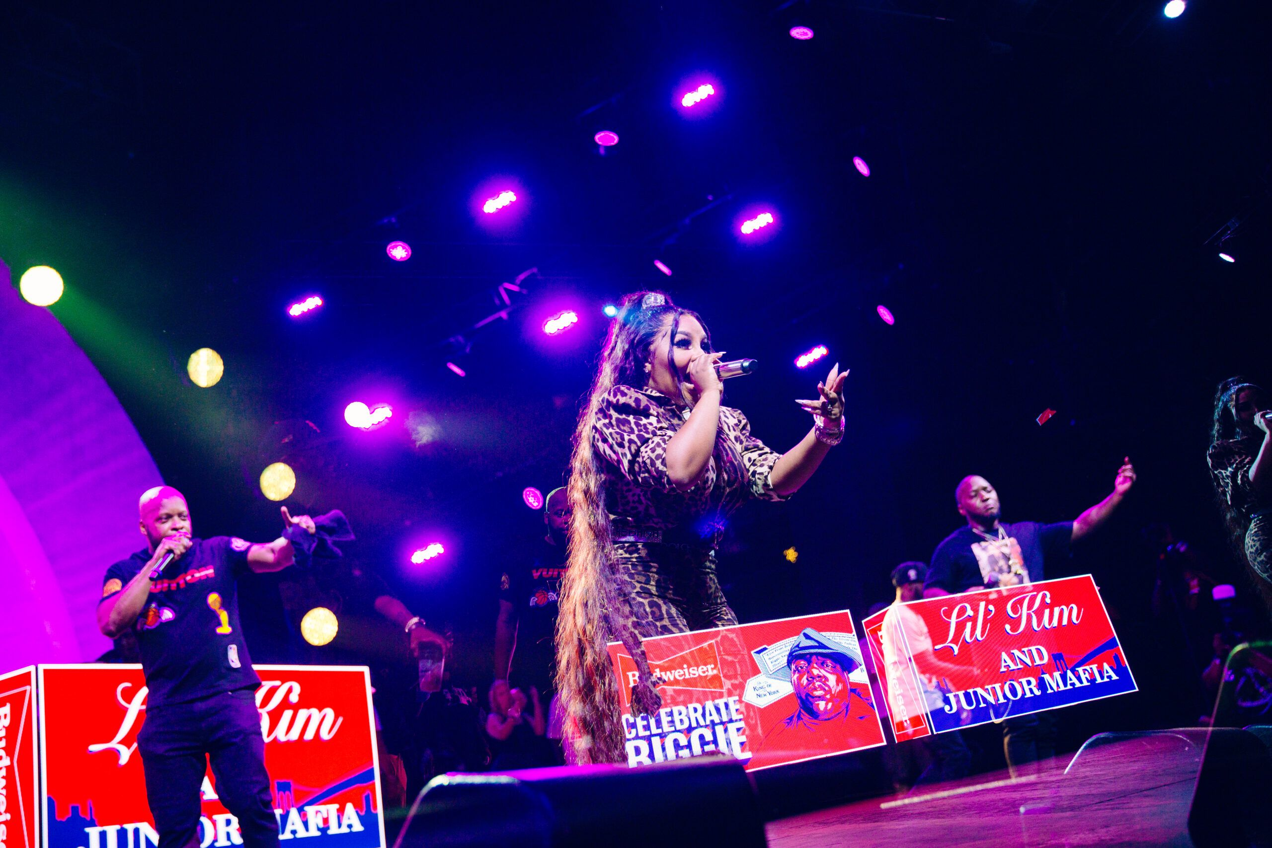 "Lil Kim, The Lox & Busta Rhymes Rock ""Celebrate Biggie"" Concert [PHOTOS]"