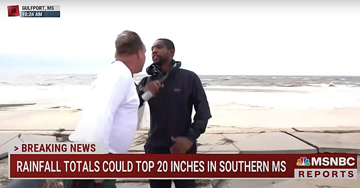 Crazy White Man Attacks Black MSNBC Correspondent on LIVE TV