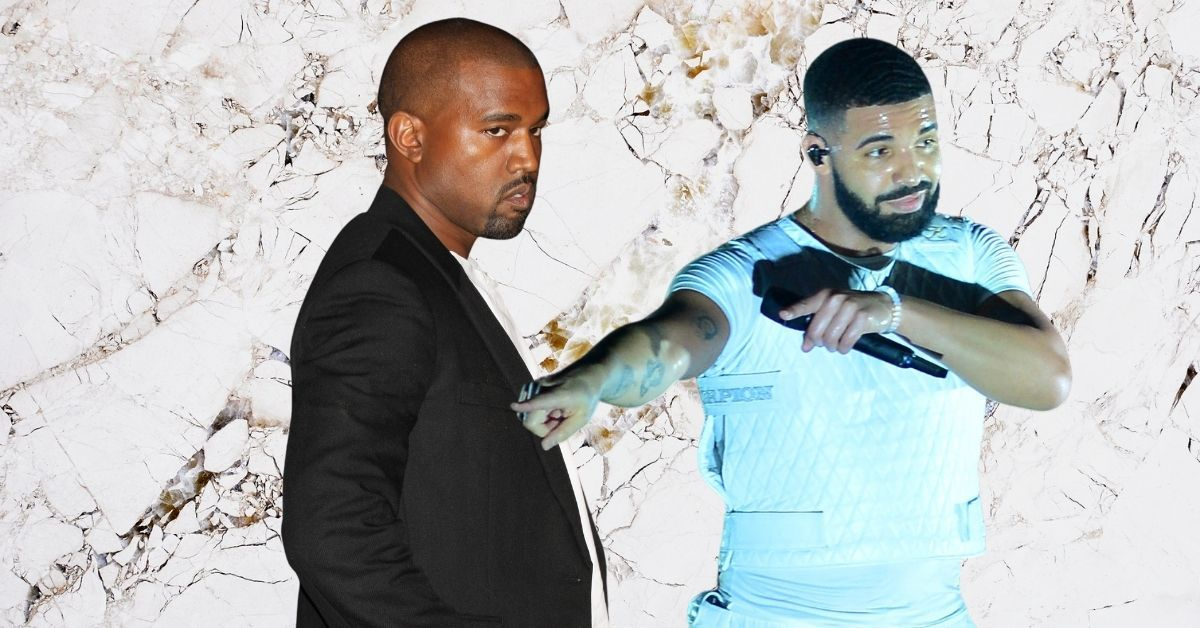 """Drake Aims At Kanye's Head, Say Rapper Is """"Jealous"""" Of Him"""