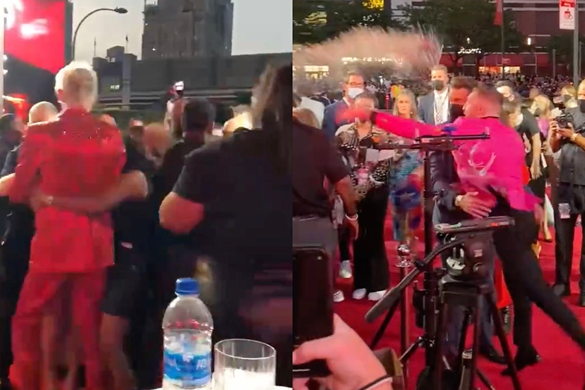 Machine Gun Kelly and Conor McGregor Get Into Scuffle at MTV VMAs, Connor Tries to Throw Punch at MGK – Watch