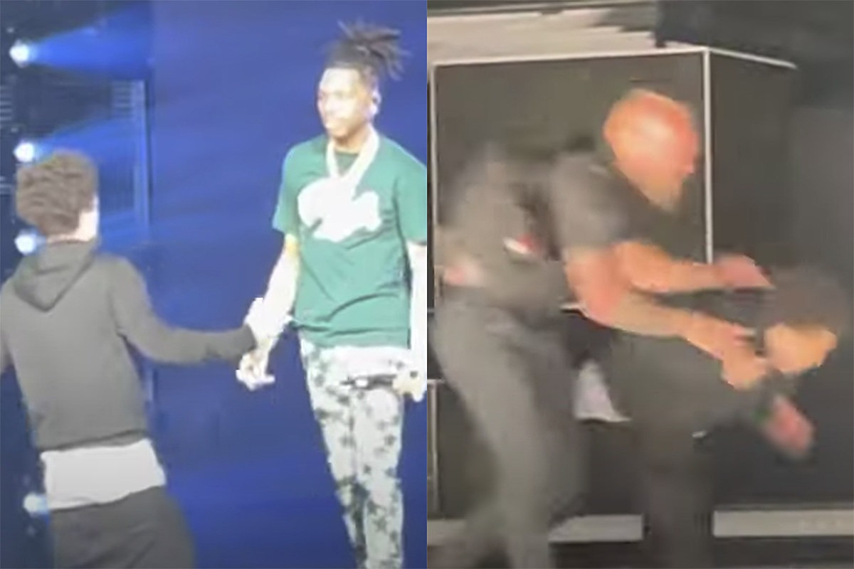 Lil Baby Fan Jumps on Stage During Concert, Gets Thrown Down by Security – Watch
