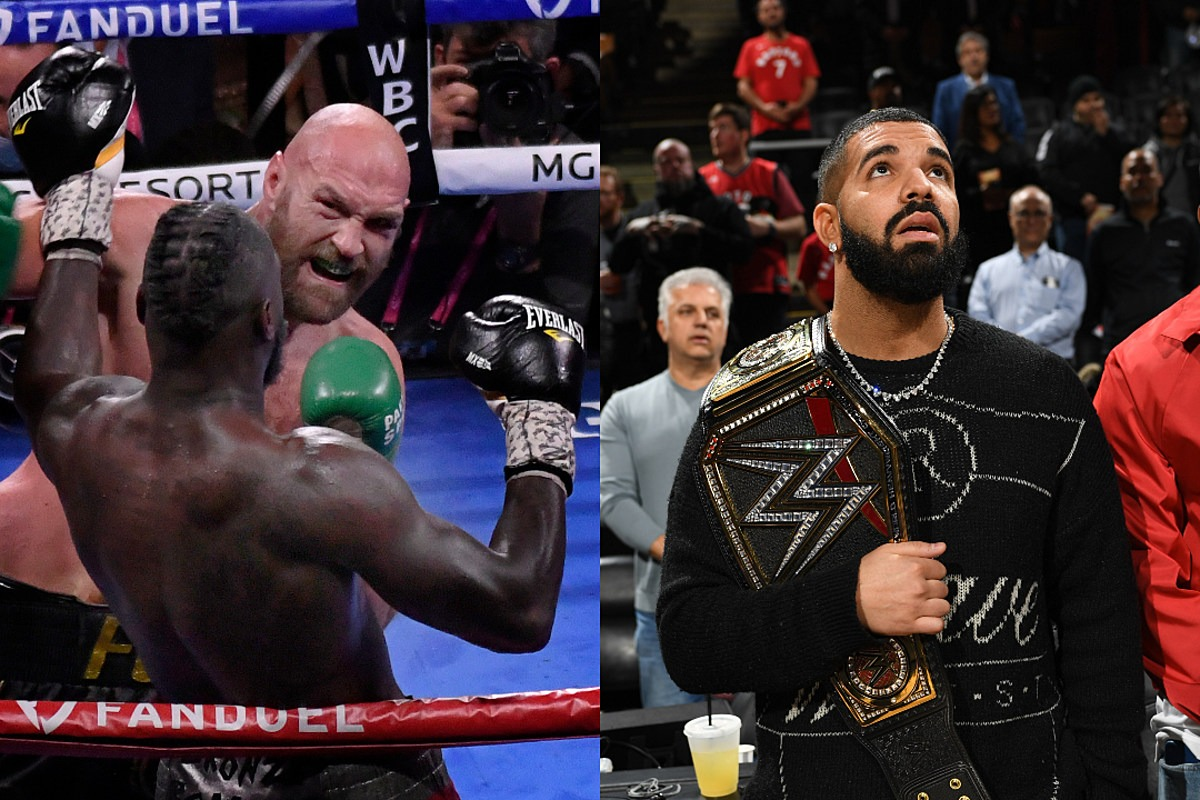 """Boxer Tyson Fury Says """"No Such Thing"""" as Drake Curse After Beating Deontay Wilder"""